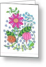 Flower Power 3 Greeting Card