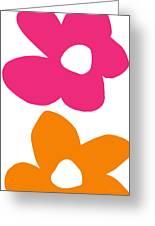 Flower Power 4- Art By Linda Woods Greeting Card
