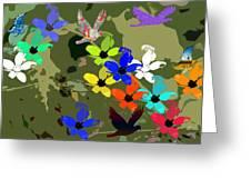 Flower Power 48 Greeting Card