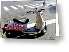 Flower Power For A Montreal Motor Scooter Greeting Card