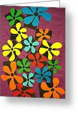 Flower Power Greeting Card by Teddy Campagna