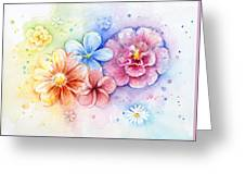 Flower Power Watercolor Greeting Card