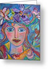 Flower Princess Greeting Card