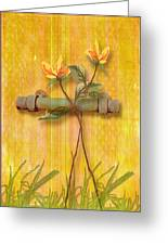 Flower Pull Greeting Card