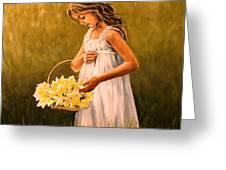 Flower S Basket Greeting Card