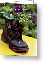 Flower Shoe Pot Greeting Card