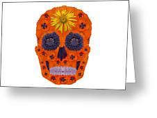 Flower Skull 1 Greeting Card