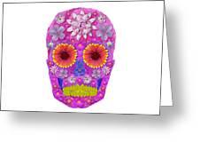 Flower Skull 2 Greeting Card