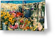 Flower Stand Greeting Card