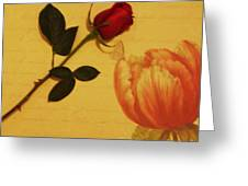 Flower Talk With Wallpaper Greeting Card