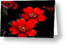 Flower Tattoo Greeting Card by Scott Gould