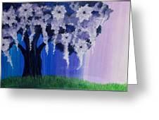 Flower Tree  Greeting Card