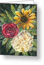 Flower Trio Greeting Card