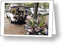 Flower Truck On Nantucket Greeting Card