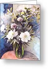 Flower Vase Greeting Card