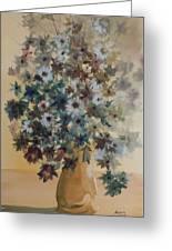 Flower Vase Original Watercolor Greeting Card