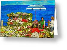 Flower Vendor In Sea Point Greeting Card
