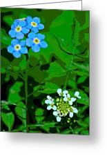 Flower Vision Greeting Card