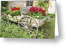 Flower Wagon Greeting Card