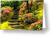 Flower Walk Greeting Card
