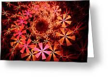 Flower Whirlpool Greeting Card