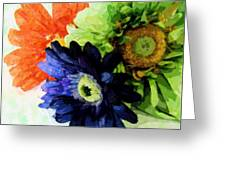 Flower X Three Greeting Card