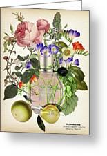 Flowerbomb Notes 3 - By Diana Van  Greeting Card