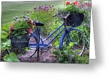 Flowered Bicycle Greeting Card