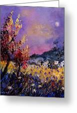 Flowered Landscape 569070 Greeting Card