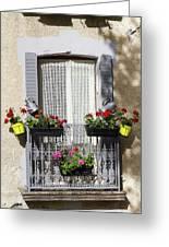 Flowered Window Greeting Card