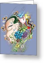 Flowerhead Greeting Card