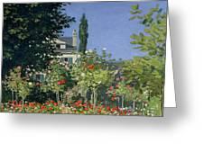 Flowering Garden At Sainte-adresse Greeting Card