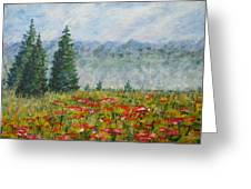 Flowering Mountain Meadow Greeting Card