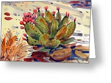 Flowering Opuntia Greeting Card