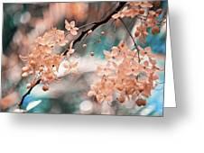 Flowering Tree. Nature In Alien Skin Greeting Card