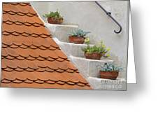 Flowerpots Ascending Greeting Card