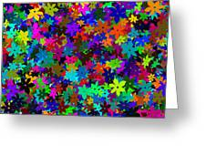 Flowers Abstract Greeting Card