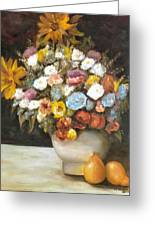Flowers After Renoir Greeting Card