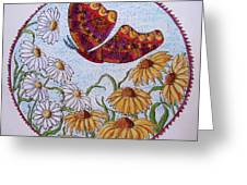 Flowers And A Butterfly Greeting Card