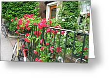 Flowers And Bikes Oh My Greeting Card