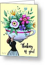 Flowers And Coffee Greeting Card