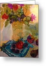 Flowers And Figs Greeting Card
