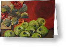 Flowers And Fruit Greeting Card
