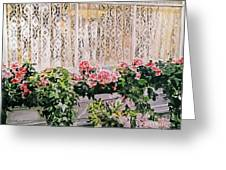 Flowers And Lace Greeting Card by David Lloyd Glover