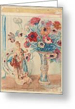 Flowers And Porcelain Greeting Card
