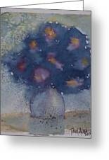 Flowers At Night Original Abstract Gothic Surreal Art Greeting Card