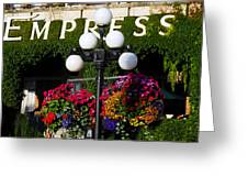 Flowers At The Empress Greeting Card