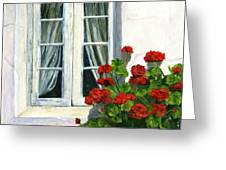 Flowers At The Window Greeting Card