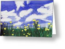 Flowers Bright Field Greeting Card