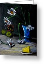Flowers Camomiles Still Life Acrylic Painting Greeting Card